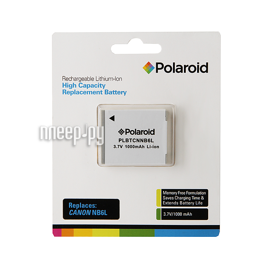 Аккумулятор Polaroid NB-6L PLBTCNNB6L  Pleer.ru  975.000