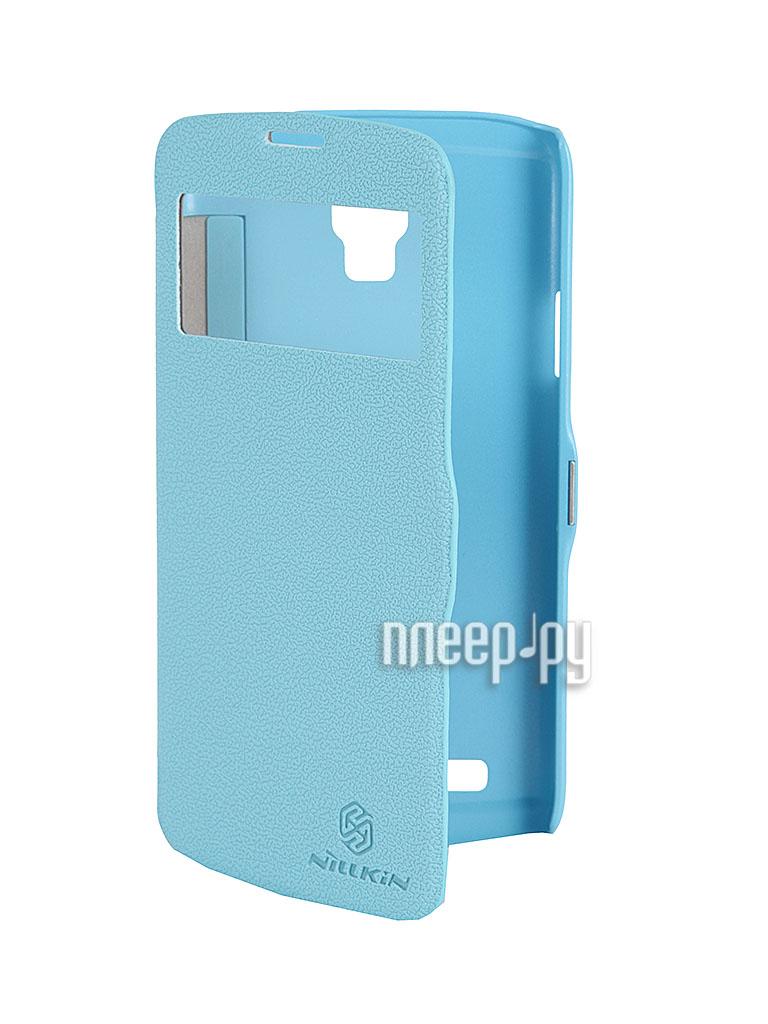 Аксессуар Чехол Nillkin for Samsung GT-i9295 Galaxy S4 Active Fresh Series Leather Case Blue  Pleer.ru  1199.000