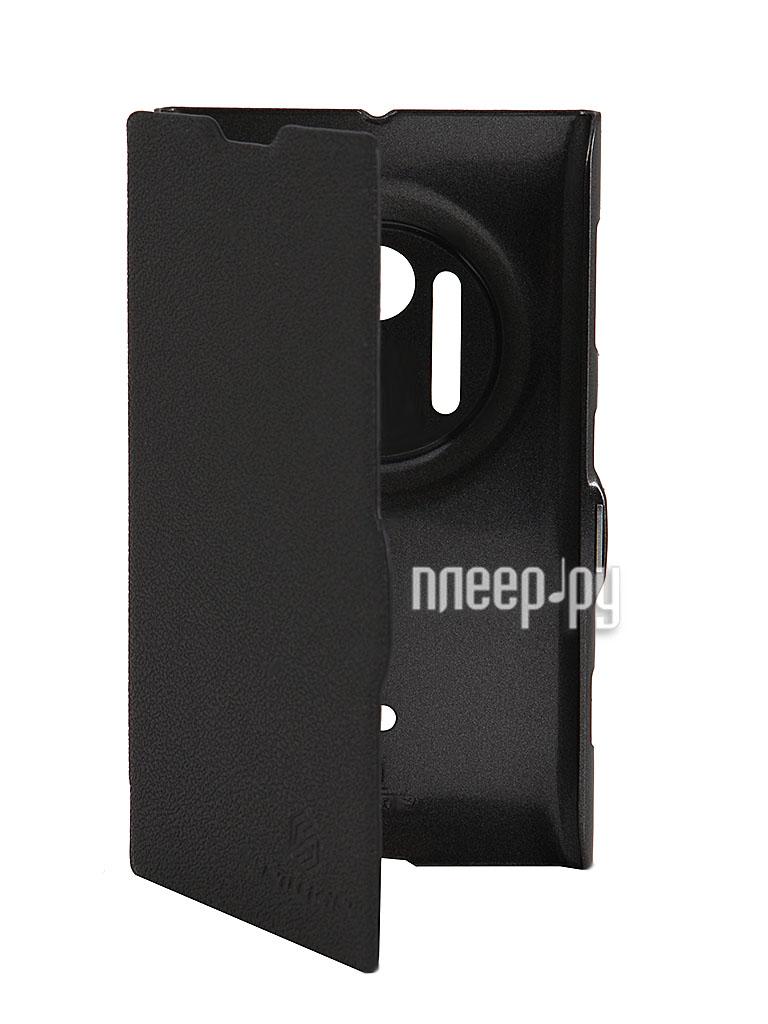 Аксессуар Чехол Nokia Lumia 1020 Nillkin Fresh Series Leather Case Black  Pleer.ru  1199.000
