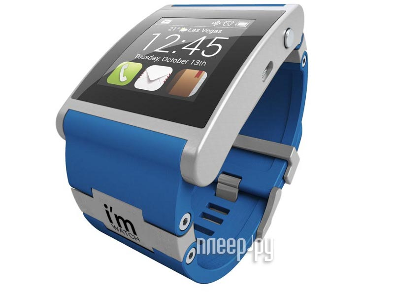 Умные часы I-m Watch Color Blue  Pleer.ru  9485.000
