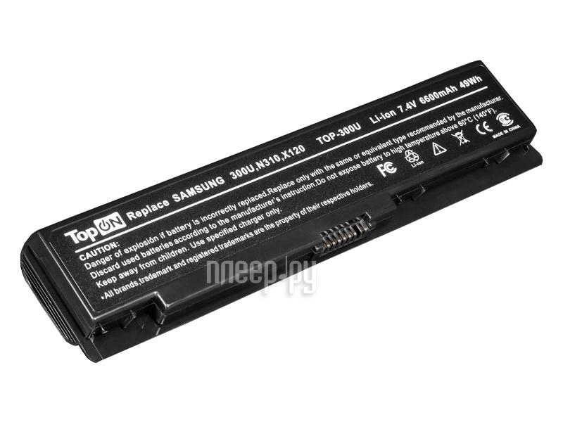 Аккумулятор TopON TOP-300U 7.4V 6600mAh for Samsung 300U/300U1A/300U1Z/N310/N315/NC310/N311/X118/X120/X170/X171 Series  Pleer.ru  1670.000