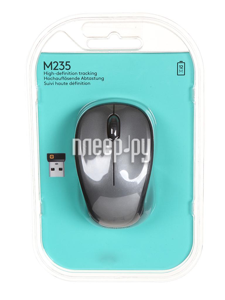Мышь Logitech Wireless Mouse M235 Grey-Black 910-003146 / 910-002201