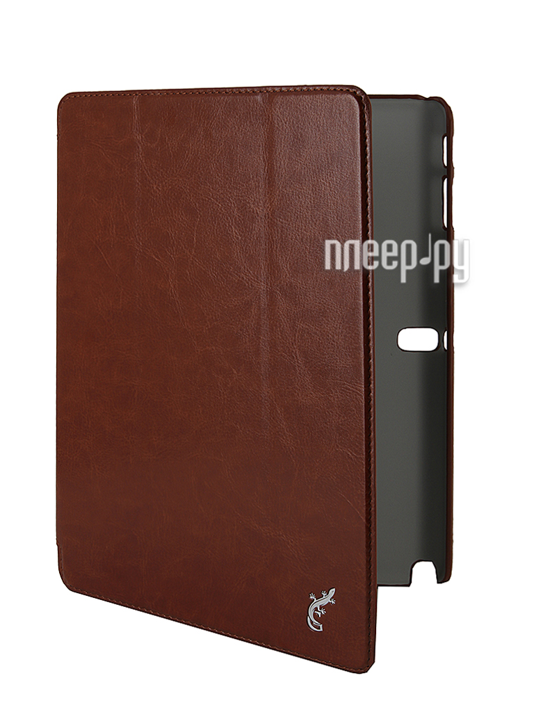 Аксессуар Чехол G-Case for Samsung SM-P601 Galaxy Note 10.1 2014 Edition Slim Premium Brown  Pleer.ru  1200.000