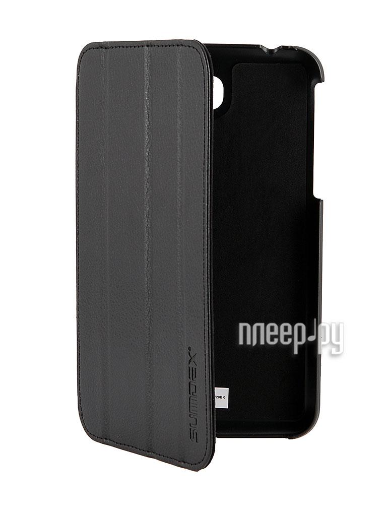 Аксессуар Чехол Galaxy Tab 3 7.0 T210 / T211 Sumdex ST3-720 BK Black  Pleer.ru  800.000