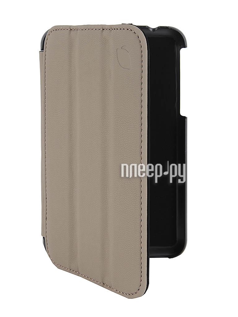 Аксессуар Чехол Galaxy Tab 3 7.0 T2100/T2110 Lemon Tree SlimFit Grey-Sand LT-21SA1206  Pleer.ru  986.000