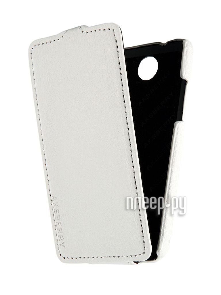 Аксессуар Чехол HTC Desire 300 Aksberry White  Pleer.ru  348.000
