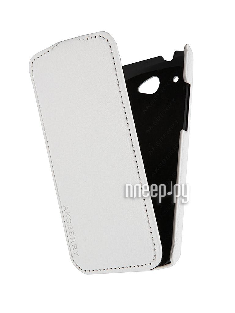 Аксессуар Чехол HTC Desire 601 Aksberry White  Pleer.ru  348.000