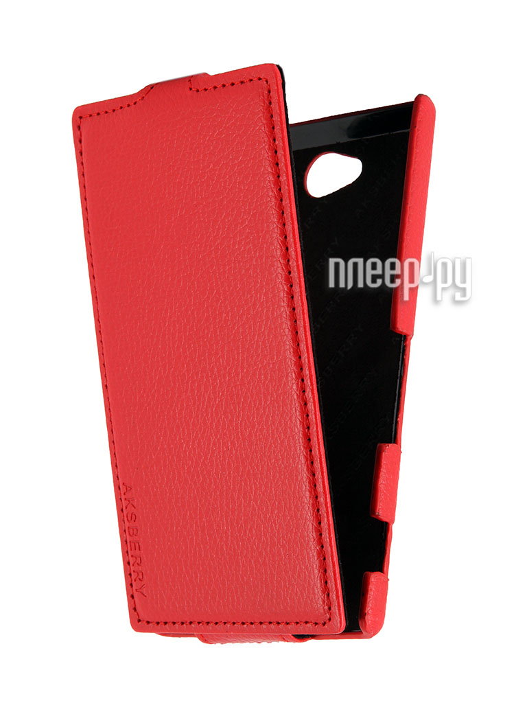 Аксессуар Чехол Sony Xperia C Aksberry Red  Pleer.ru  1129.000