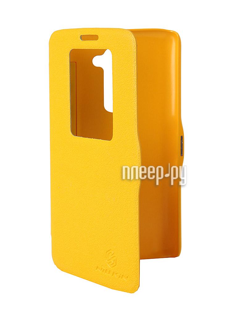 Аксессуар Чехол LG D802 Optimus G2 Nillkin Fresh Series Leather Case Yellow  Pleer.ru  1199.000