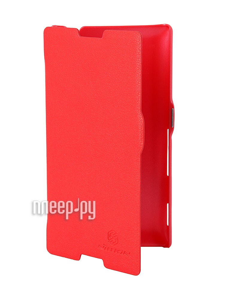 Аксессуар Чехол Sony S39h Xperia C Nillkin Fresh Series Leather Case Red  Pleer.ru  1199.000