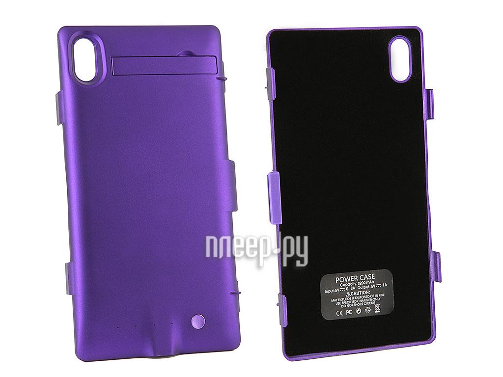 Аксессуар Чехол с аккумулятором Sony Xperia Z1 L39h Ainy 3200mAh Purple  Pleer.ru  1612.000