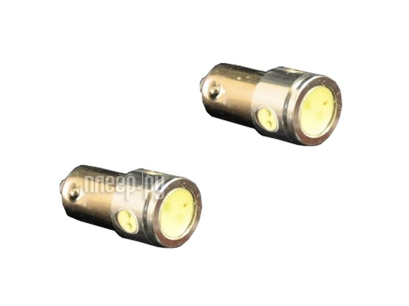 Светодиодная лампа Glare of Light T4W (BA9S) 2.5W 0201 (2 штуки)  Pleer.ru  166.000