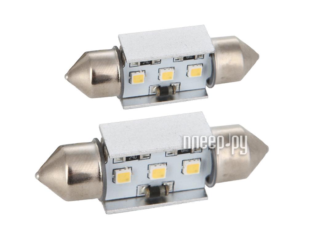 Светодиодная лампа Glare of Light C5W-36mm-3W Canbus 2204 (2 штуки)  Pleer.ru  381.000