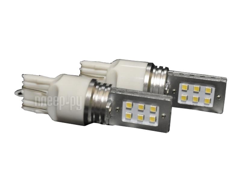 Светодиодная лампа Glare of Light 7443 (W21/5W) 12W Samsung 1901 (2 штуки)  Pleer.ru  537.000
