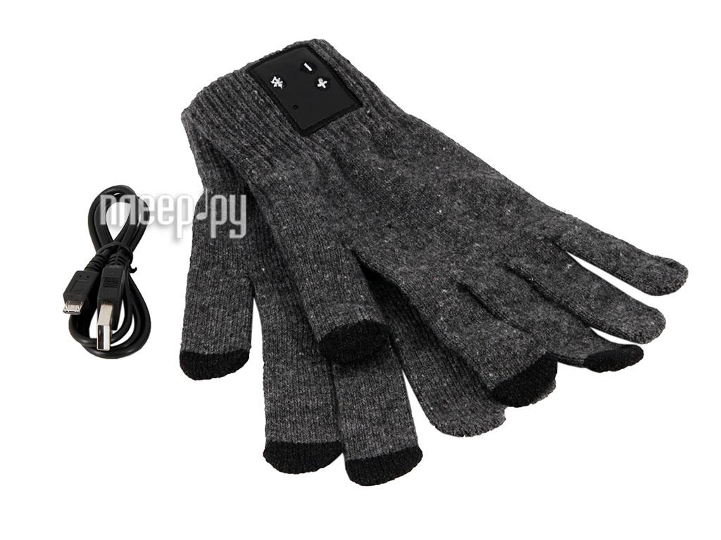 Теплые перчатки GlobusGPS GL-BT3 BT Grey  Pleer.ru  1088.000