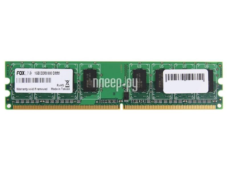 Модуль памяти Foxline PC2-6400 DIMM DDR2 800MHz - 1Gb FL800D2U5-1G  Pleer.ru  820.000