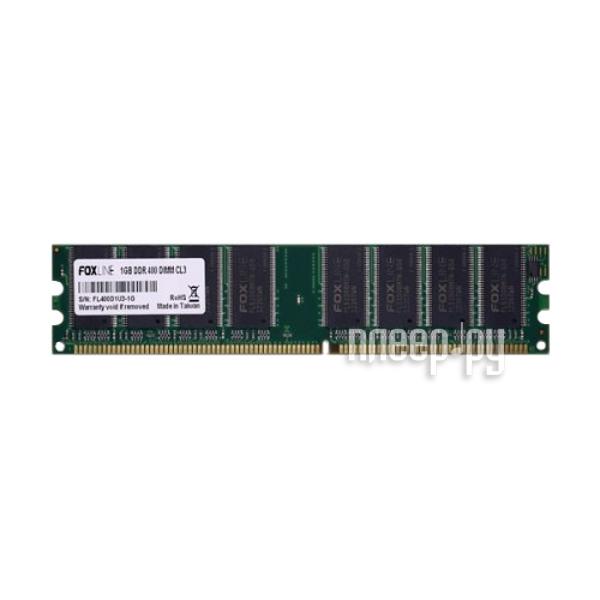Модуль памяти Foxline PC3-3200 DIMM DDR 400MHz - 1Gb FL400D1U3-1G CL3  Pleer.ru  911.000