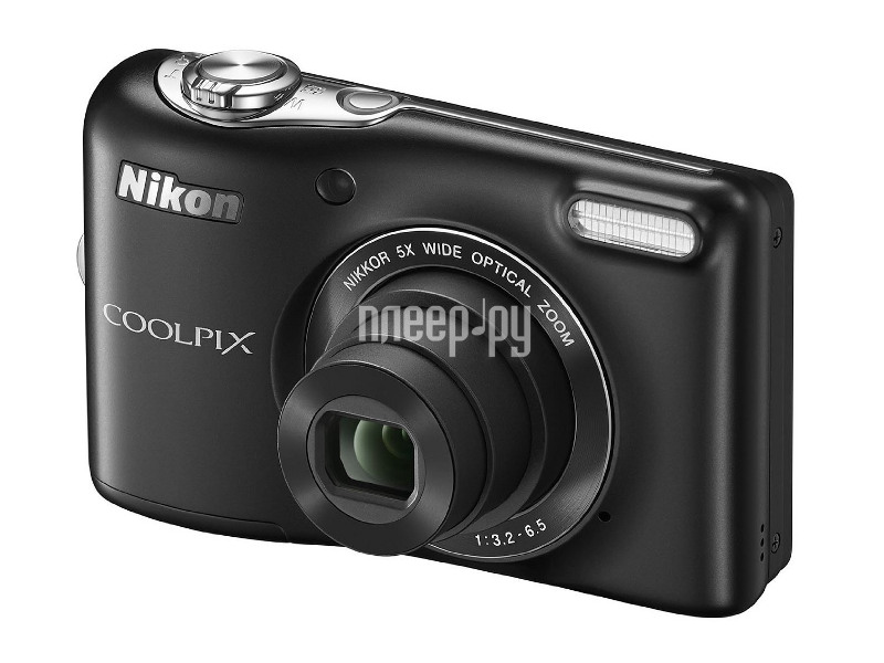 Фотоаппарат Nikon L30 Coolpix Black  Pleer.ru  3044.000