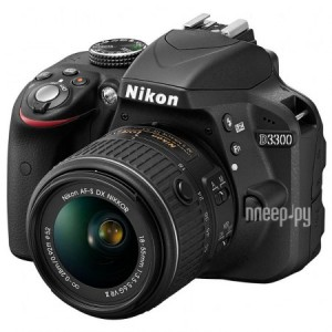 Фотоаппарат Nikon D3300 Kit AF-S DX 18-55 mm f/3.5-5.6G VR II Black (гарантия Nikon)