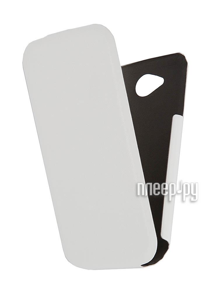 Аксессуар Чехол Lenovo A706 Scobe Leather Edition White