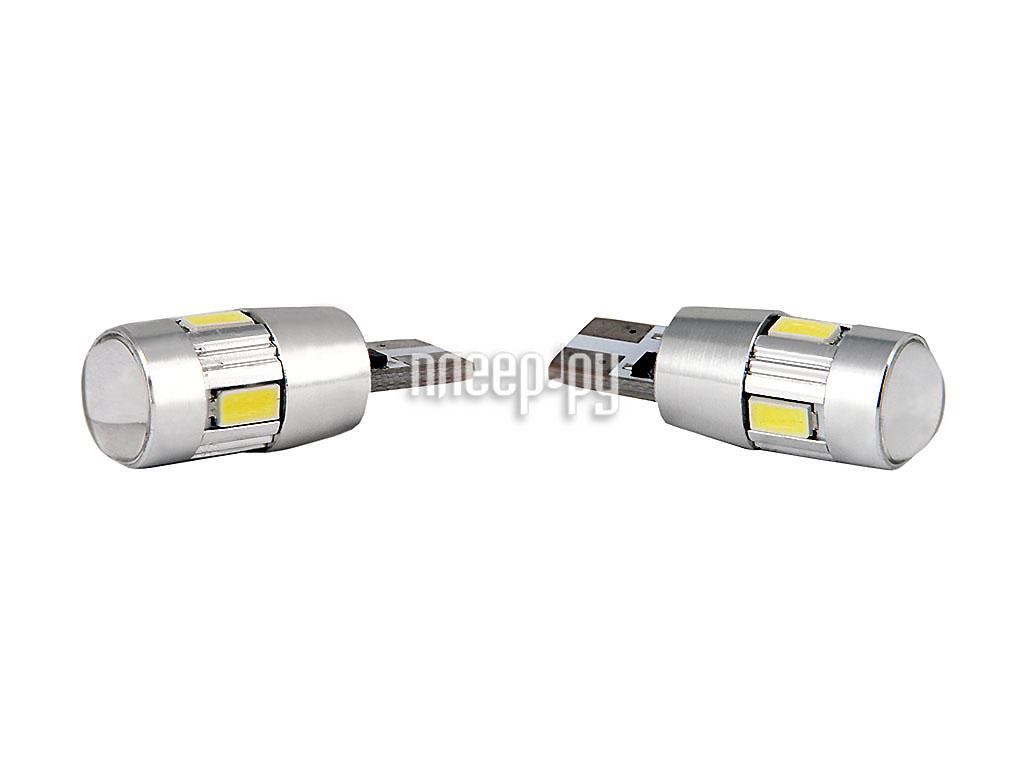 Светодиодная лампа Glare of Light Canbus T10 (W5W)-6-5630 SMD 1503 (2 штуки)  Pleer.ru  409.000