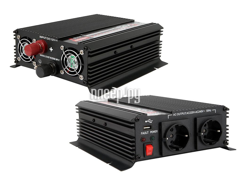 Автоинвертор AcmePower AP-DS1000/12 (1000Вт) преобразователь с 12В на 220В