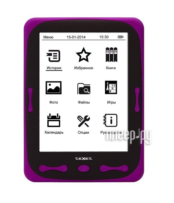 Электронная книга teXet TB-566 Purple  Pleer.ru  2488.000