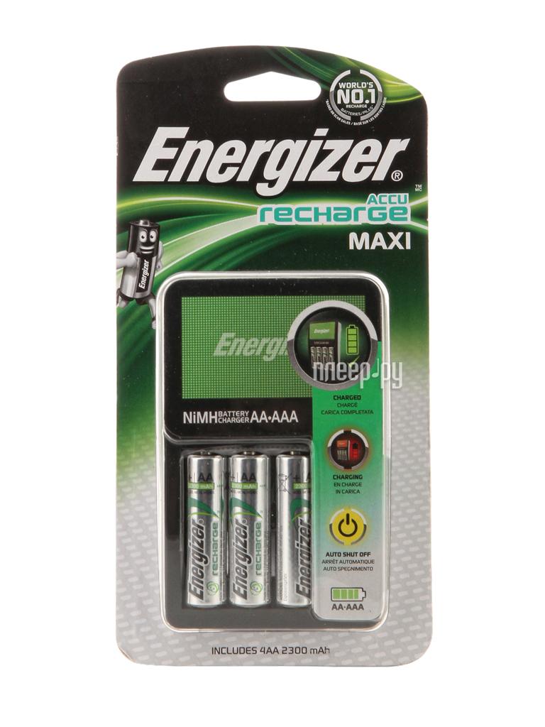 Зарядное устройство Energizer Maxi Charger EU + 4 ак. AA 2300 mAh EMG921211 / EMG916933 / EMG940441