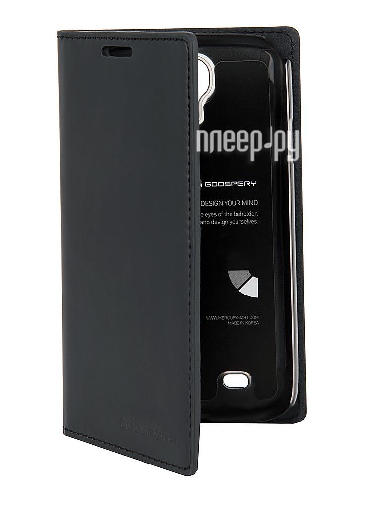 Аксессуар Чехол Samsung GT-i9500 / GT-i9505 Galaxy S4 Mercury Leather Flip Cover Black  Pleer.ru  450.000