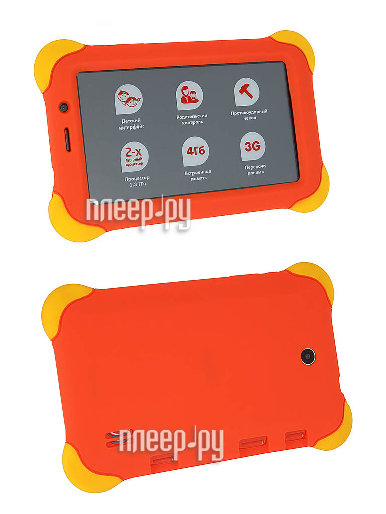 Планшет Func Happy Online-01 Dual Core/512Mb/4Gb/Wi-Fi/3G/Bluetooth/Cam/7/1024x600/Android 4.2  Pleer.ru  3987.000