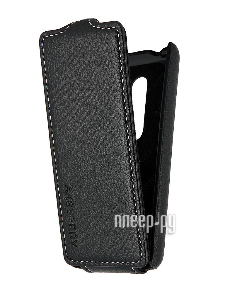 Аксессуар Чехол Nokia Asha 206 Aksberry Black  Pleer.ru  1129.000