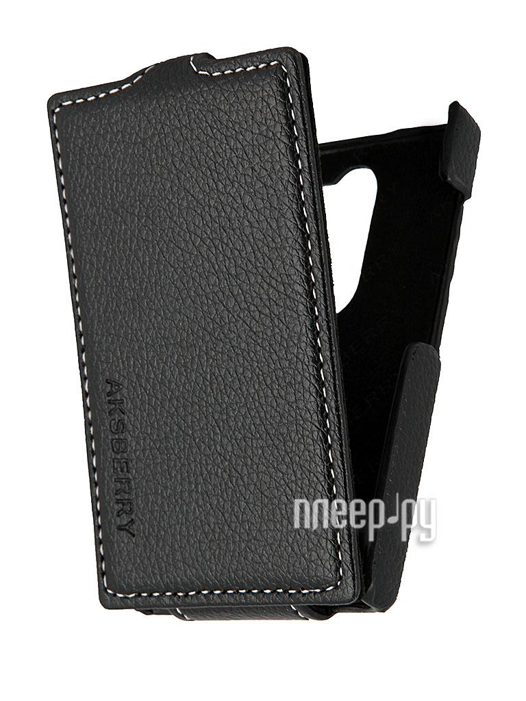 Аксессуар Чехол Nokia Asha 502 Aksberry Black  Pleer.ru  348.000