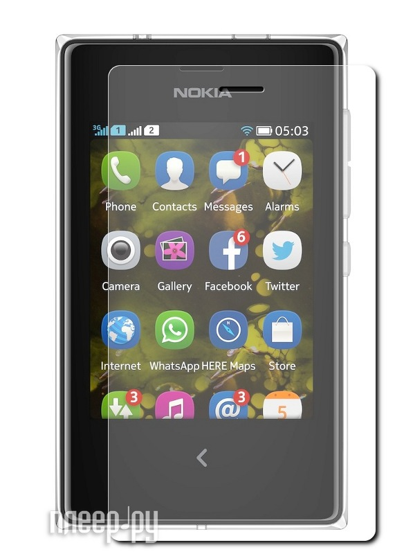 Аксессуар Защитная пленка Nokia Asha 502 Dual LuxCase суперпрозрачная 80455  Pleer.ru  554.000