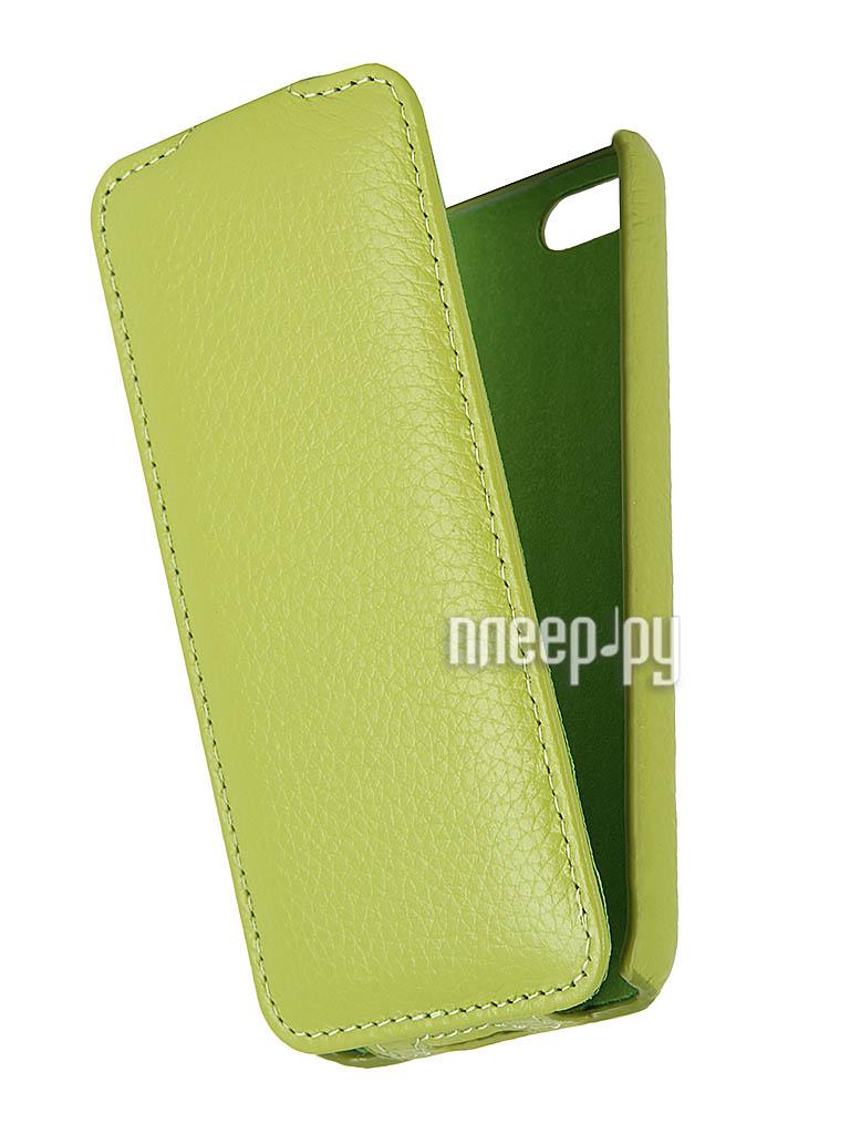 Аксессуар Чехол Clever Case Leather Shell for iPhone 5C тисненая  Pleer.ru  1097.000
