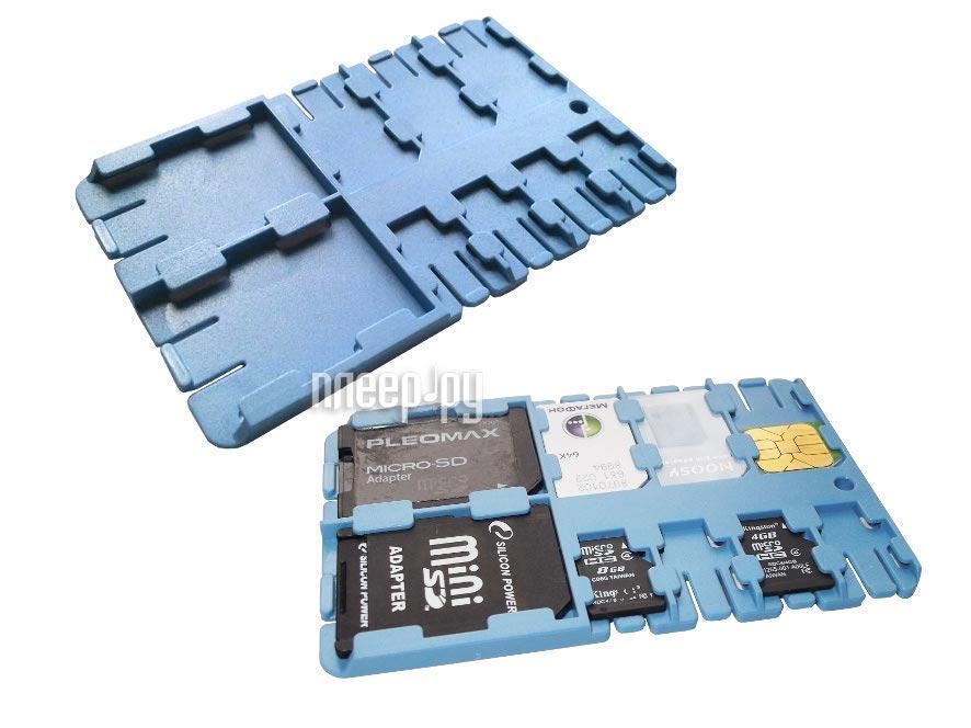 Футляр REFI Holder SD / microSD / SIM Light Blue  Pleer.ru  159.000