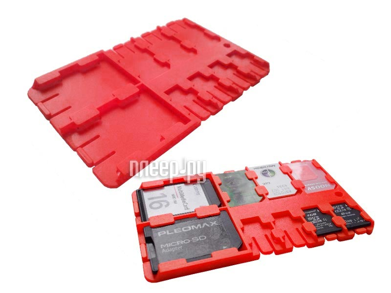 Футляр REFI Holder SD / microSD / SIM Red  Pleer.ru  159.000