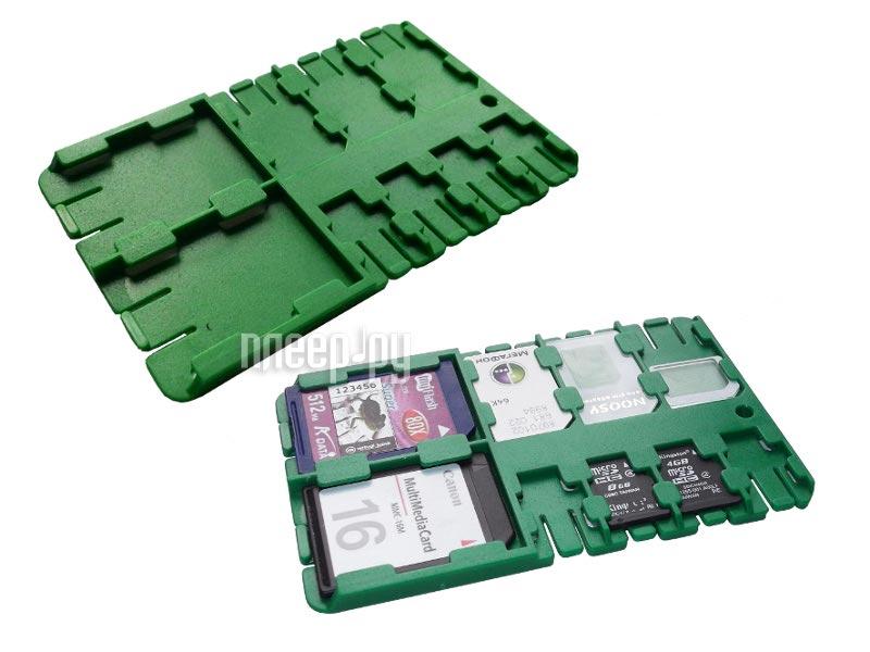 Футляр REFI Holder SD / microSD / SIM Green  Pleer.ru  159.000