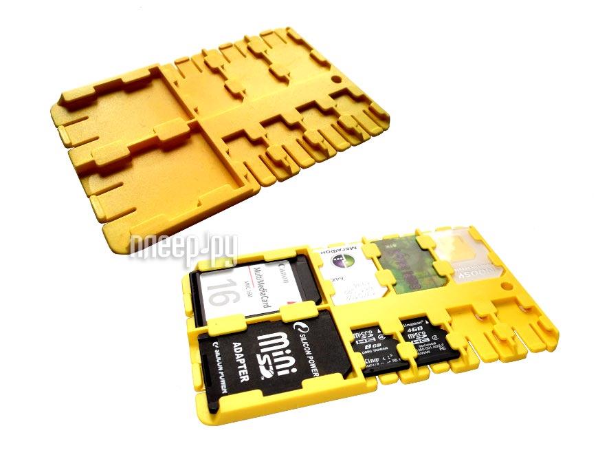 Футляр REFI Holder SD / microSD / SIM Yellow  Pleer.ru  159.000