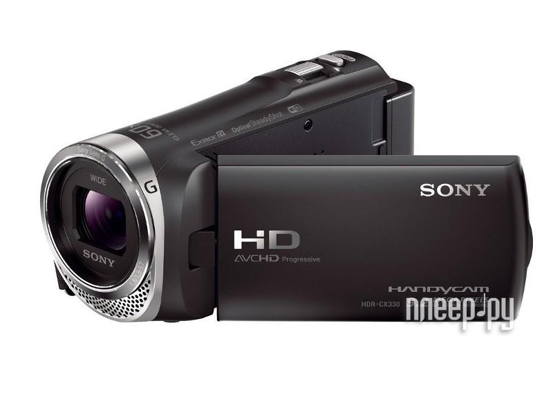 Видеокамера Sony HDR-CX330E Black  Pleer.ru  14039.000