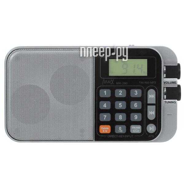 Радиоприемник MAX MR-280 Silver 26041  Pleer.ru  908.000
