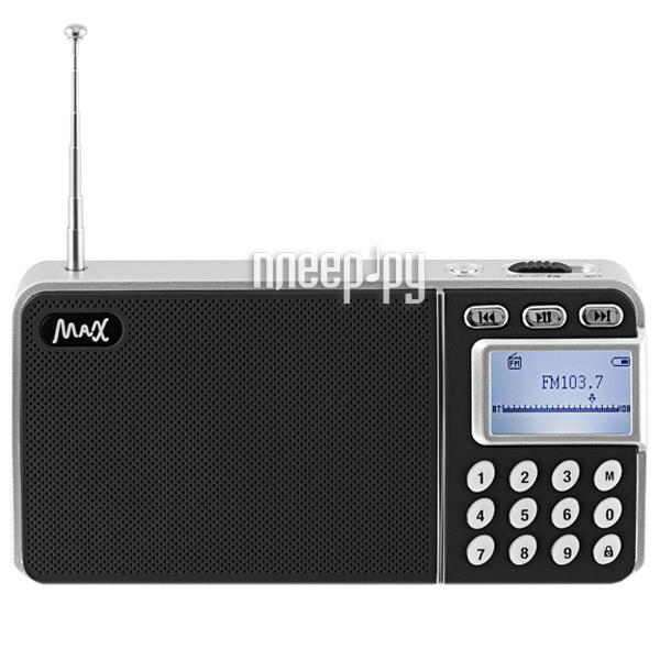 Радиоприемник MAX MR-250 Silver 26011  Pleer.ru  887.000