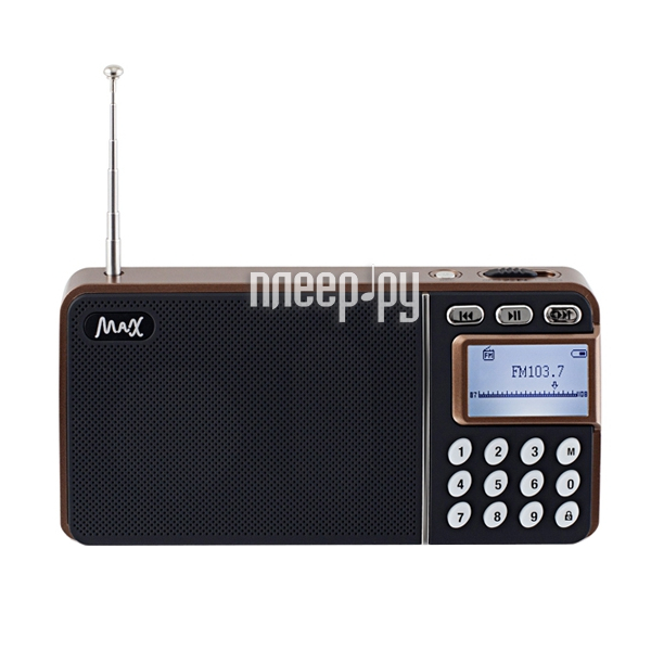 Радиоприемник MAX MR-250 Bronze Dark 26012  Pleer.ru  887.000