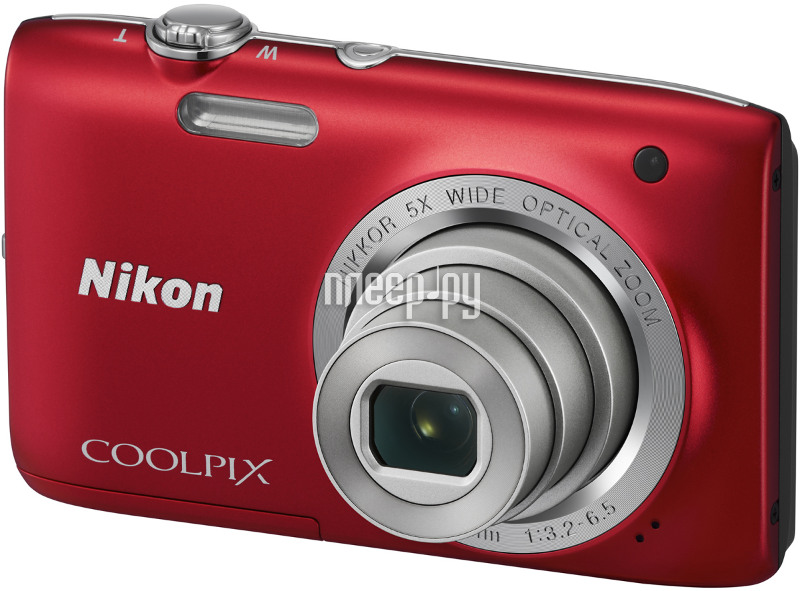Фотоаппарат Nikon S2800 Coolpix Red  Pleer.ru  3097.000