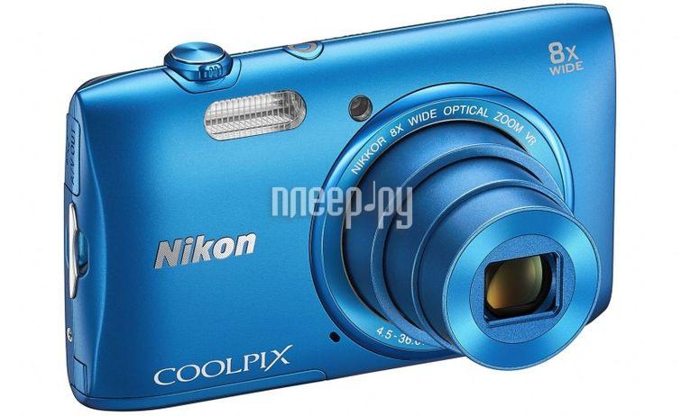 Фотоаппарат Nikon S3600 Coolpix Blue  Pleer.ru  3738.000