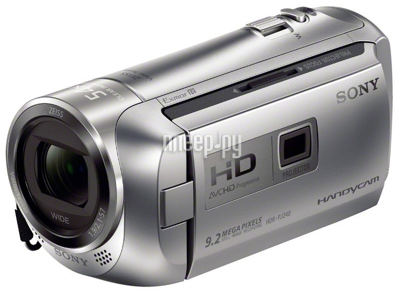 Видеокамера Sony HDR-PJ240E Silver  Pleer.ru  10148.000