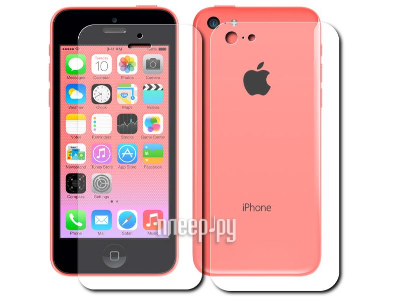 Аксессуар Защитная пленка Alwise for iPhone 5C (экран + задняя панель) глянцевая  Pleer.ru  528.000