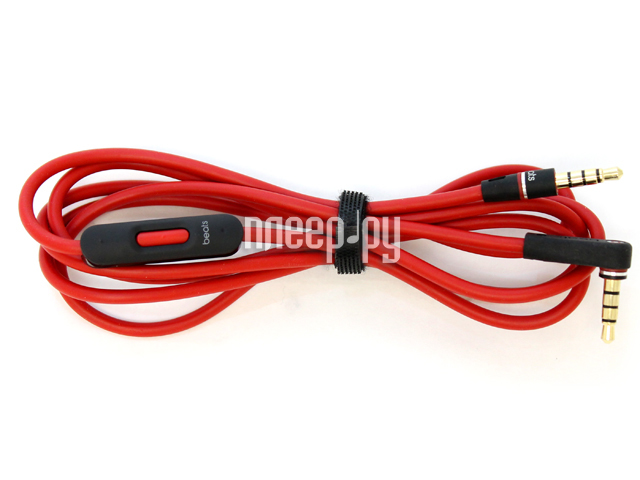 Аксессуар Beats Audio Cable 3.5mm Red с гарнитурой  Pleer.ru  1298.000
