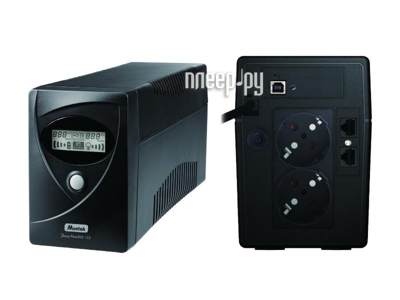 Источник бесперебойного питания Mustek PowerMust 636VA 360W PA636 LCD  Pleer.ru  2630.000