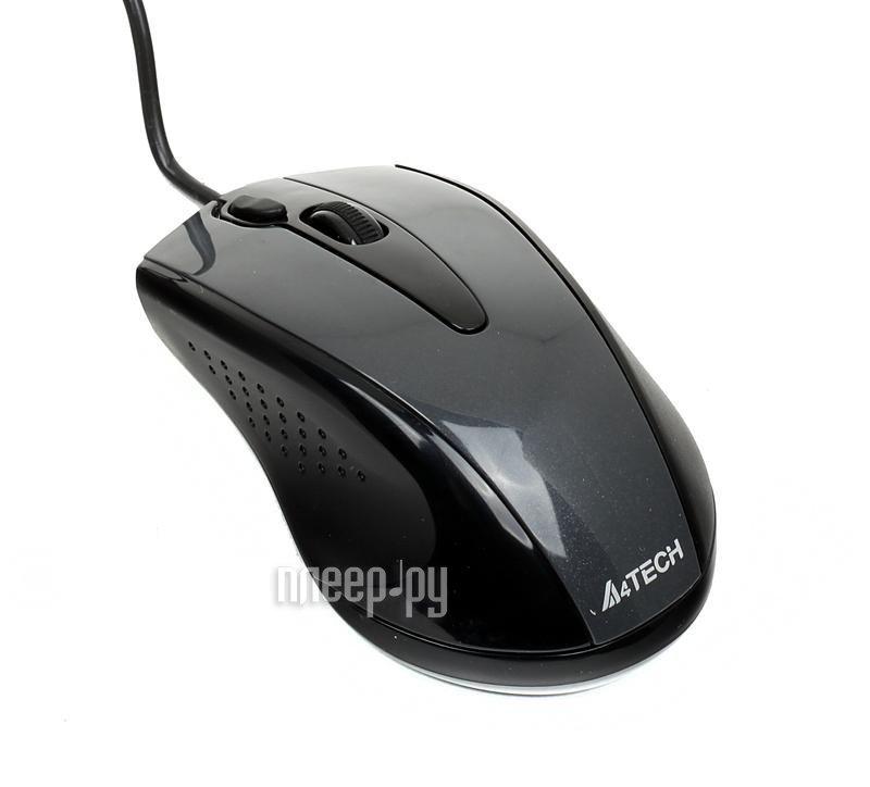 Мышь A4Tech N-360-1 Glossy Grey
