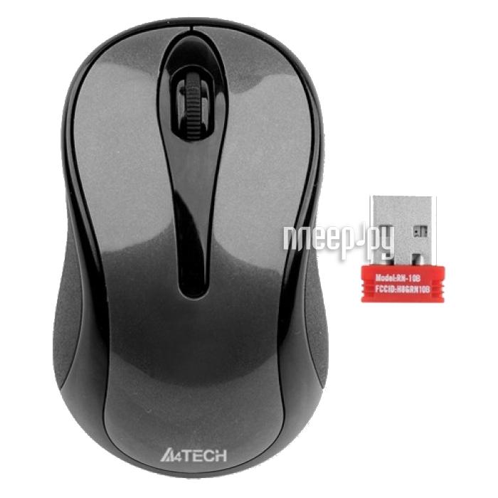 Мышь беспроводная A4Tech G3-200N Black USB  Pleer.ru  302.000